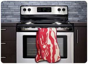 bacon tea towel