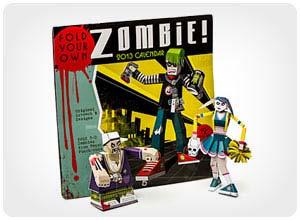 build-a-zombie paper craft calendar