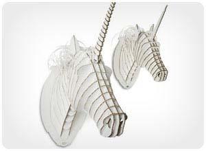 cardboard unicorn trophy