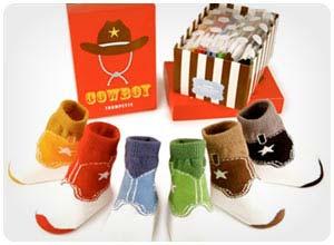cowboy baby socks
