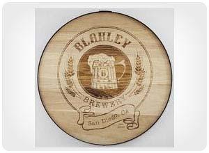 craft beer barrel sign