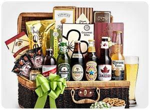 craft beer & snacks basket