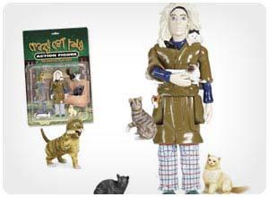 verrückte Katzendame-Action-Figur