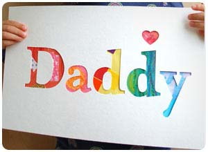 daddy cut out father's day card