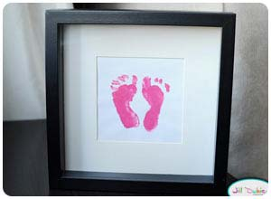 dad's first father's day newborn footprints