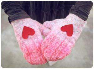 dip dyed mittens