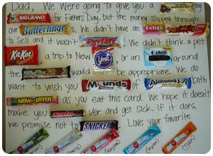 father's day candy gram
