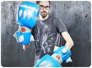 giant robot battle fists