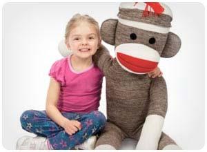 giant sock monkey