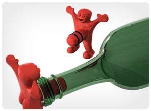 happy man bottle stopper
