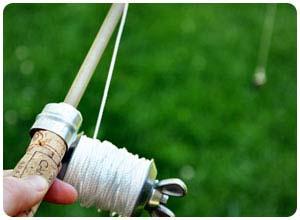 homemade fishing rod & reel