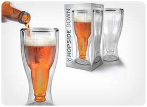 hopsidedown beer glass