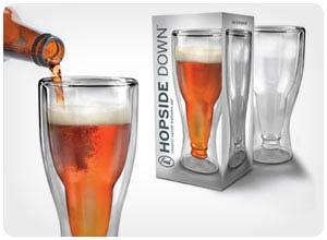 hopside down beer glasses
