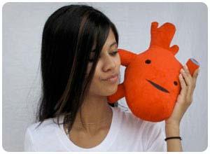 humongous heart plush