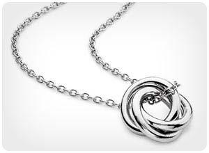 infinity love knot pendant