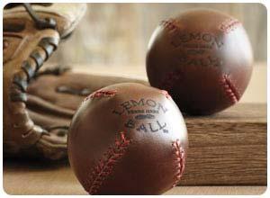 lemon ball leather baseball