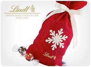 lindt snowflake gift bag