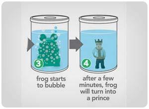 magic frog to prince
