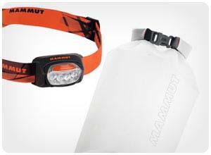 mammut t-trail headlamp + dry bag