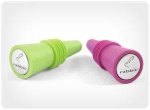 metrokane rabbit wine bottle stoppers