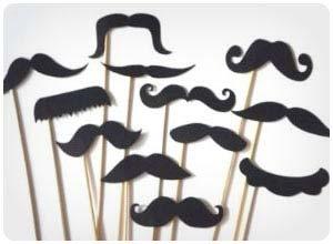 mustache on a stick