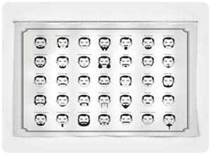 mustache shower curtain