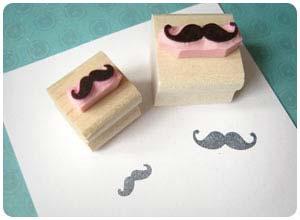 mustache stamp
