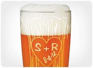 personalized tree trunk glassware