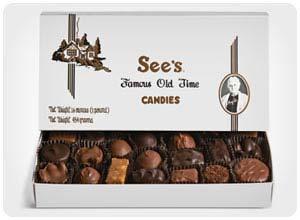 see's custom candy box