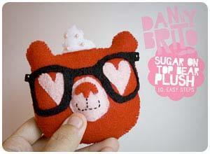 sugar on top bear felt plush