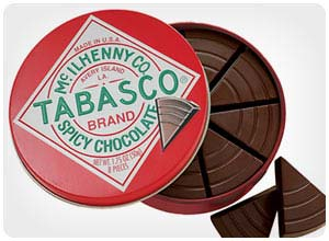 tabasco chocolate wedges