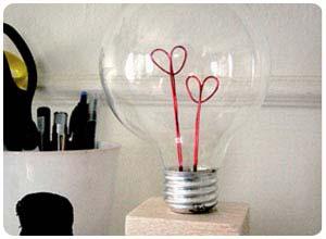 valentine lightbulb