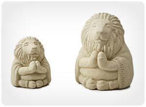 zen lion garden sculpture