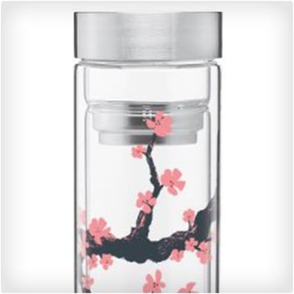Cherry Blossom Glass Tumbler