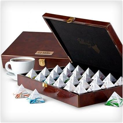 Wood Chest of Silken Tea Pyramids