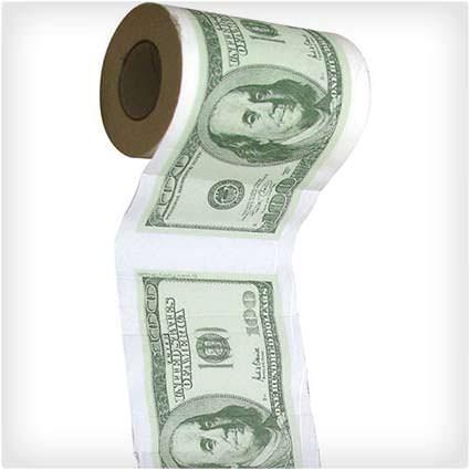 $100 Bill Toilet Paper