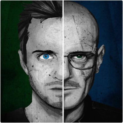 Breaking Bad Split-Face Poster