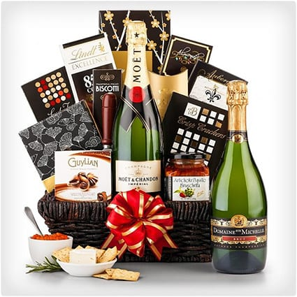 Champagne Wishes Basket
