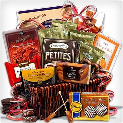 Coffee & Chocolate Classic Gift Basket