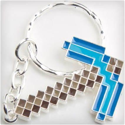 Diamond Pickaxe Keychain