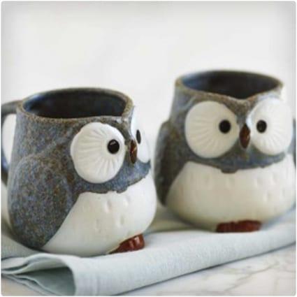 Handmade Owl Mugs