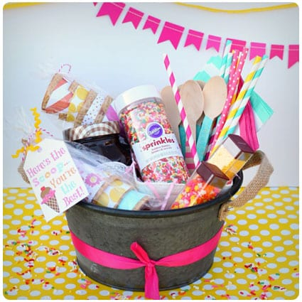 Here's The Scoop Ice Cream Gift Basket