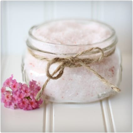 Jasmine Bath Salts in a Jar