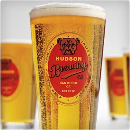 Personalized Bulldog Pub Glasses
