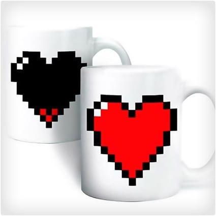 Pixel Heart Morphing Mug