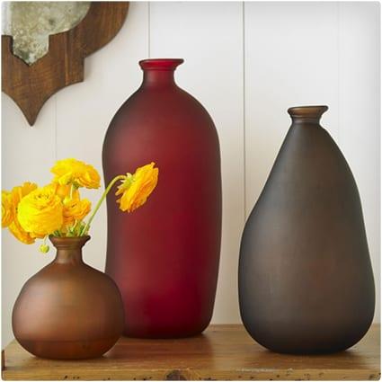 Recycled Jewel-Tone Vases