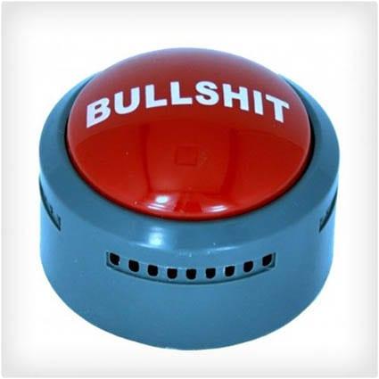 The Official Bullshit Button