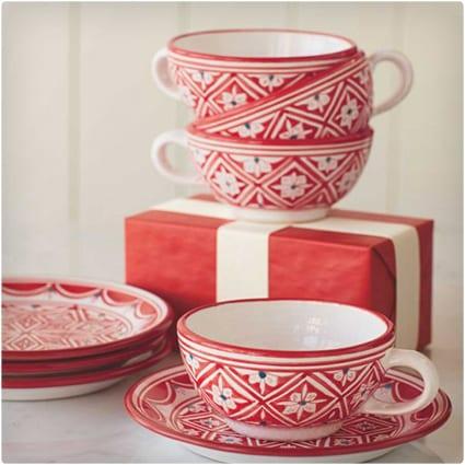 Tunisian Mugs and Plates