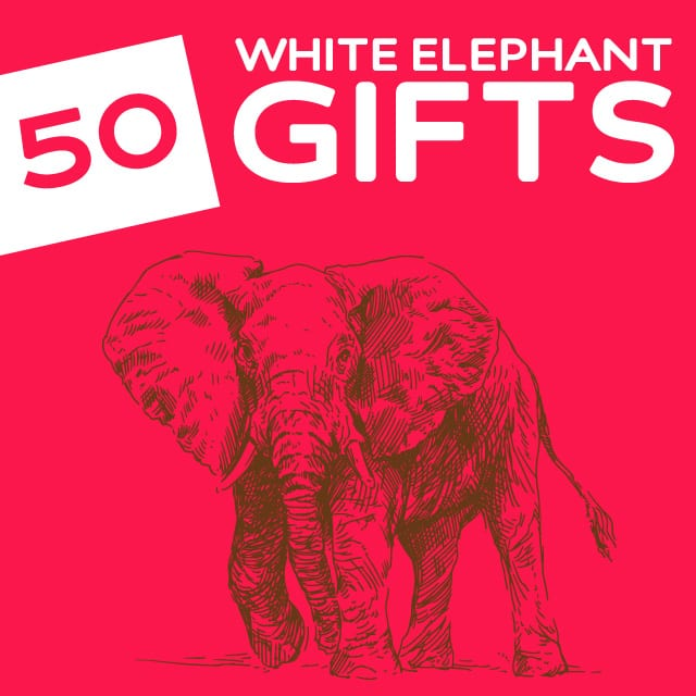 50 Hilariously Wacky White Elephant Gifts- this is the holy grail for funny white elephant and secret santa gift ideas.