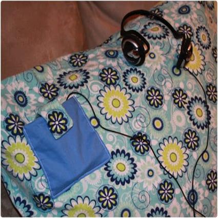 MP3 Player Pocket Pillowcase